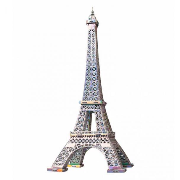 La Torre Eiffel de París - Plateada