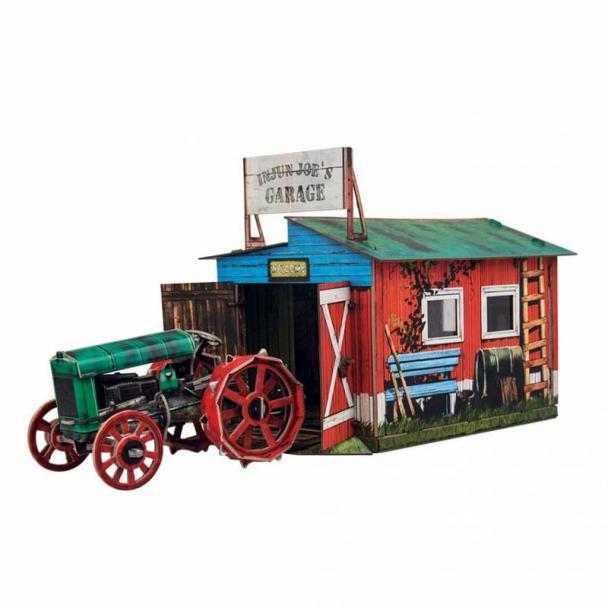 Tractor con Garaje