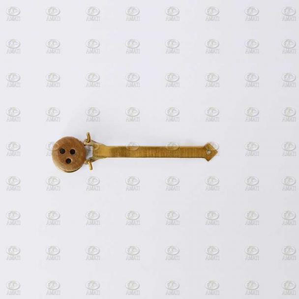 Cadenote de Latón con Vigota de Nogal 5 mm (5 uds)