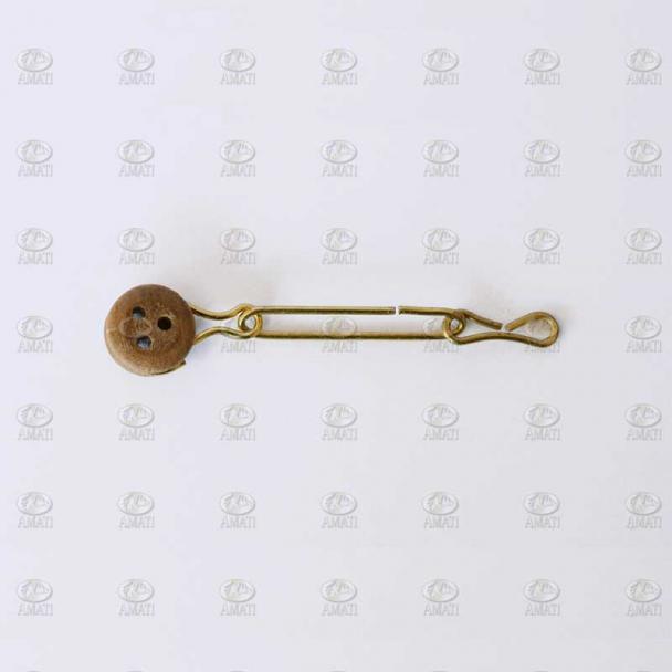 Cadenote de Alambre de Latón con Vigota de Nogal 5 mm (10 uds)