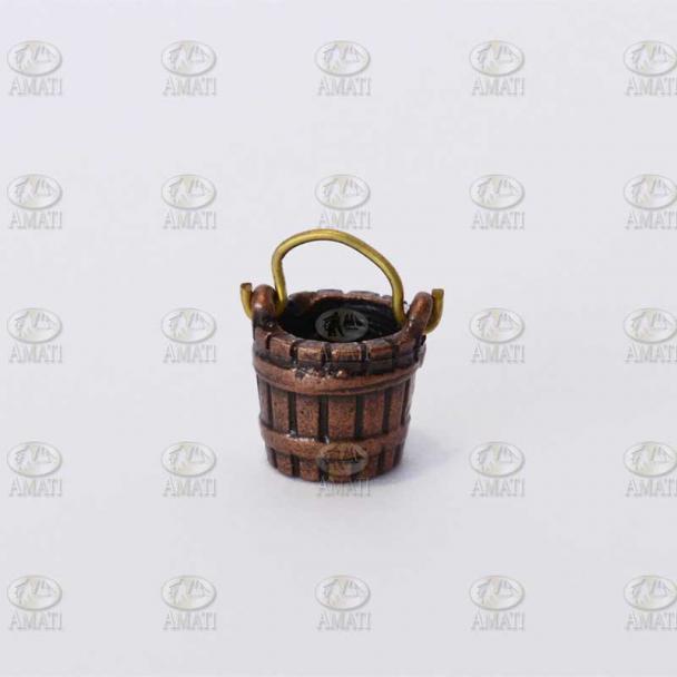 Cubo de Metal Bruñido con Asa (2 uds)