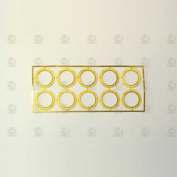 Ojo de Buey de Latón con Lámina de Acetato 15 mm (10 uds)