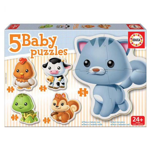 Puzzles Progresivos Baby Animales