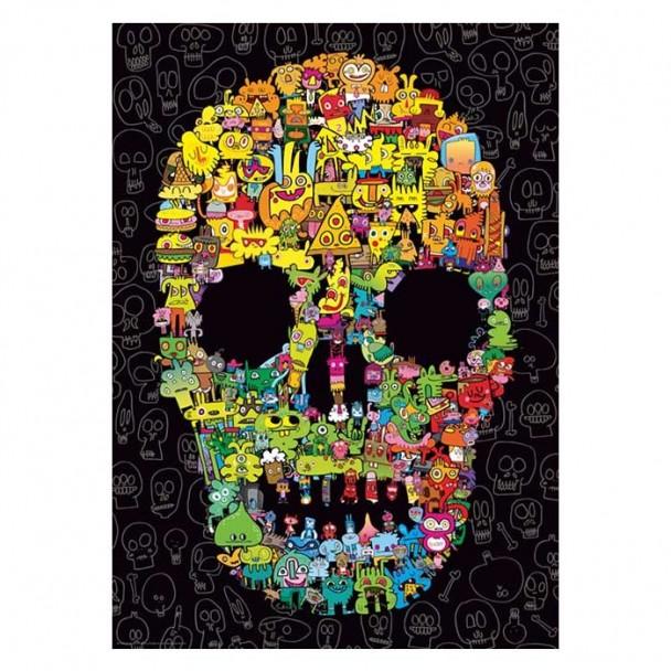 Puzzle 1000 Piezas Doodle Skull
