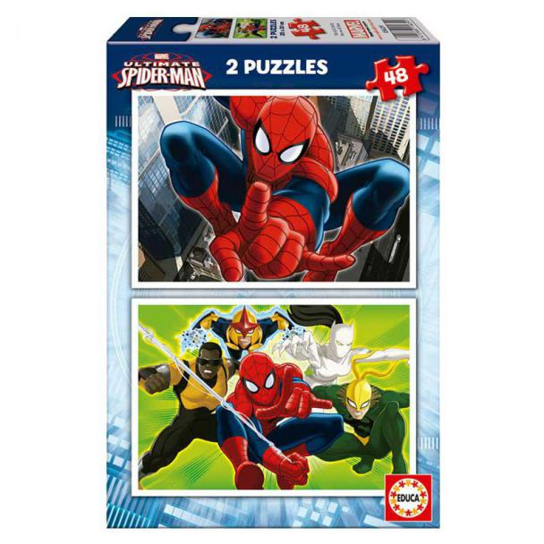 Puzzle 2 x 48 Piezas Ultimate Spiderman