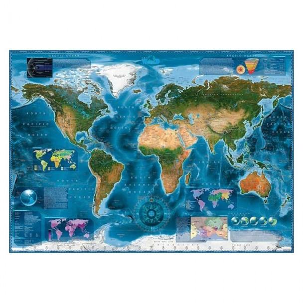 Puzzle 2000 Piezas Satellite Map