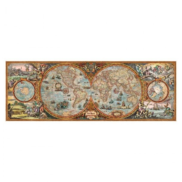 Puzzle 6000 Piezas Hemisphere Map
