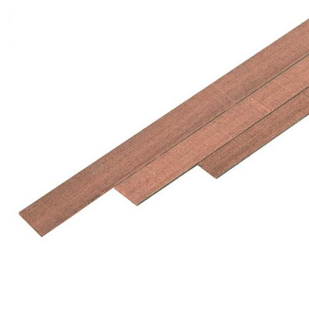 Chapa Forro de Nogal 0,5 x 2 mm (25 uds)