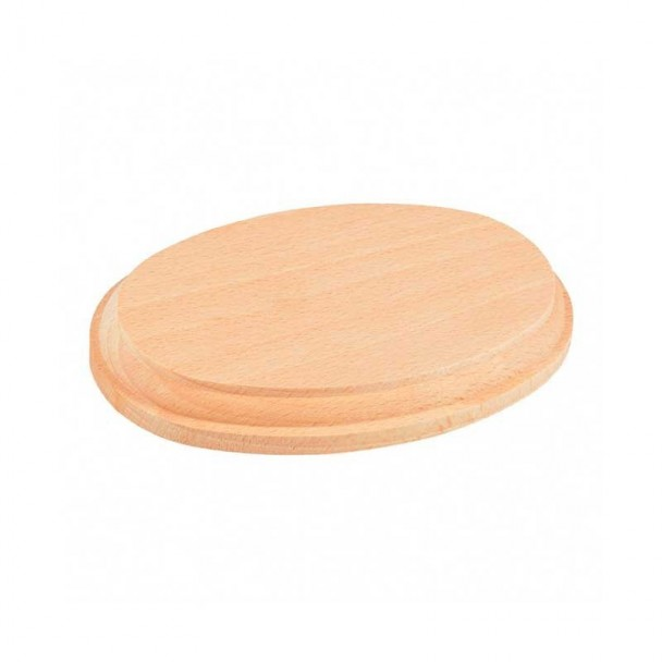 Peana Ovalada de Madera Natural 160 x 100 x 20 mm