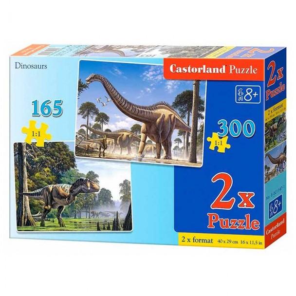 Puzzle 2 en 1 Dinosaurios 165 + 300 Piezas