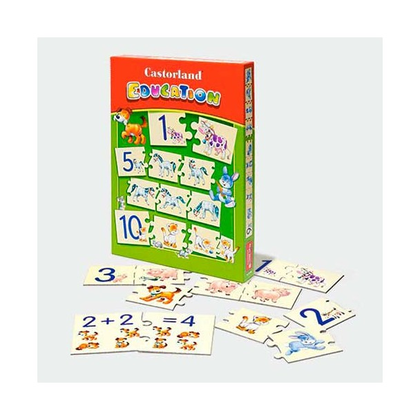 Puzzle Educacional Números
