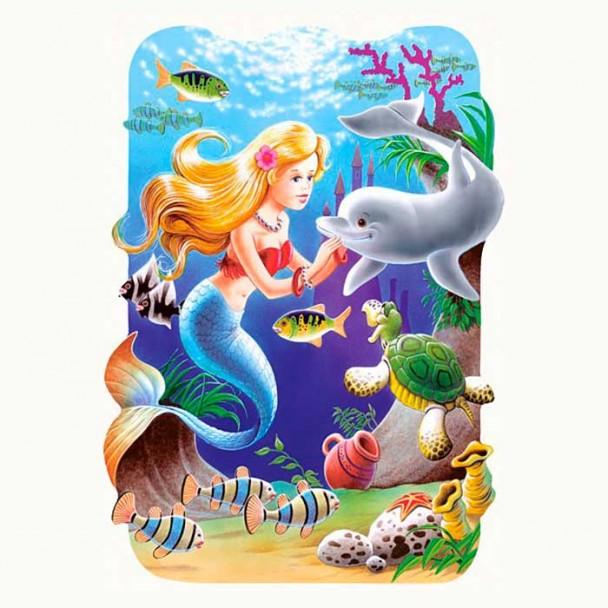 Puzzle 30 Piezas Sirena y Delfín