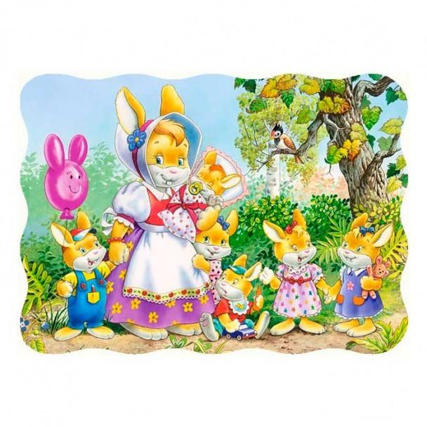 Puzzle 30 Piezas Familia de Conejos