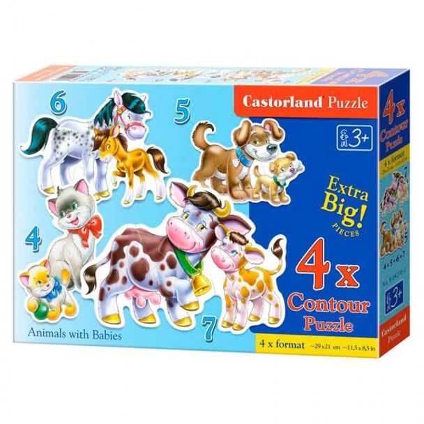 Puzzles Progresivos Animales y Bebés