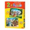 Puzzle 2 en 1 Princesas 70 + 120 Piezas