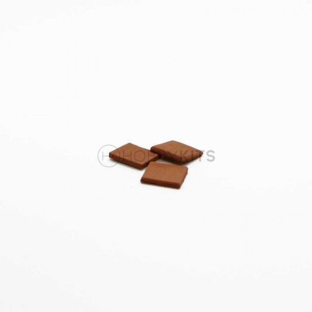 Tejadillo Rojo 10x10x1,5 mm (300 uds)