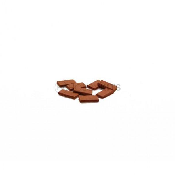 Tejadillo Rojo 10x5x1,5 mm (300 uds)