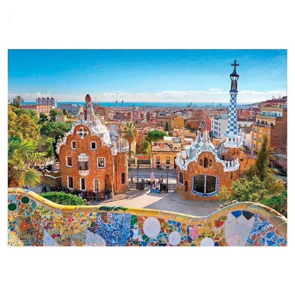 Puzzle 1000 Piezas Vista de Barcelona desde el Parque Güell