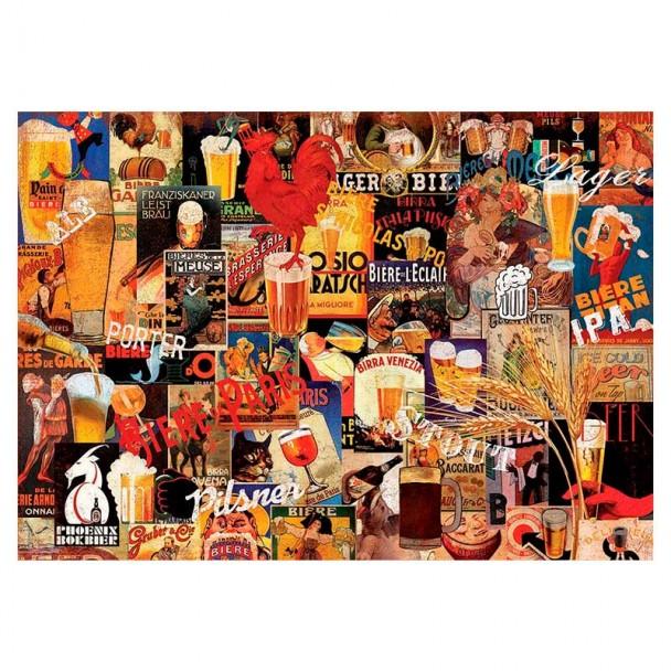Puzzle 1000 Piezas Collage de Cerveza Vintage