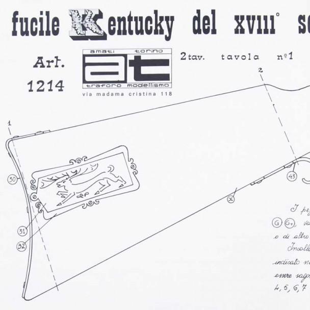 Planos Fusil Kentucky s.XVIII
