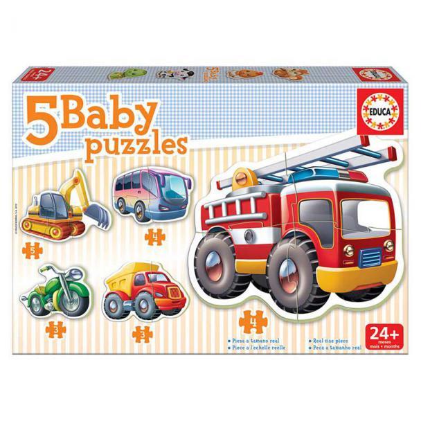 Puzzles Progresivos Baby Vehículos